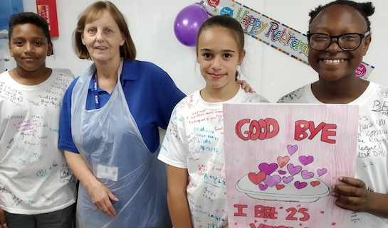 Roydon Primary says goodbye to its longest serving member of staff