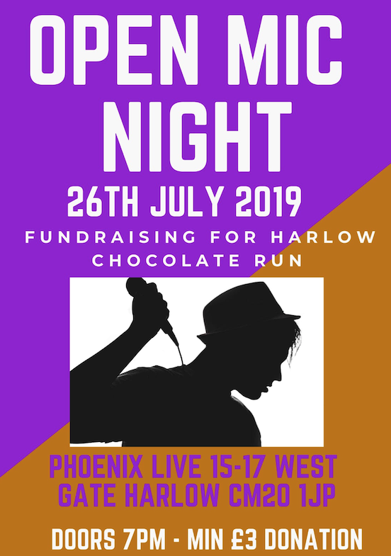 Open Mic Night for Harlow Chocolate Run - Your Harlow