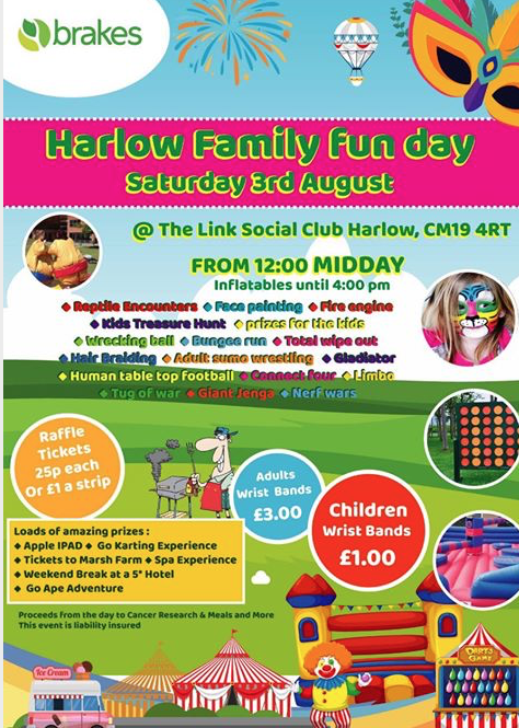 Brakes to host Family Fun Day in Harlow