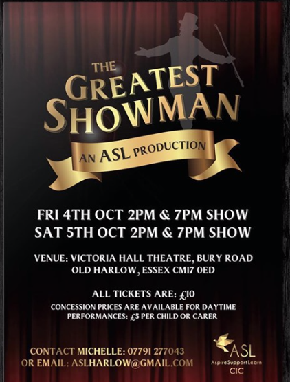 ASL set to present The Greatest Showman