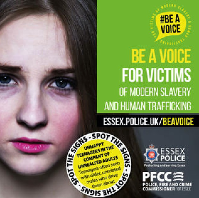 Harlow residents urged to '#BeAVoice' for victims of Trafficking and Modern Slavery