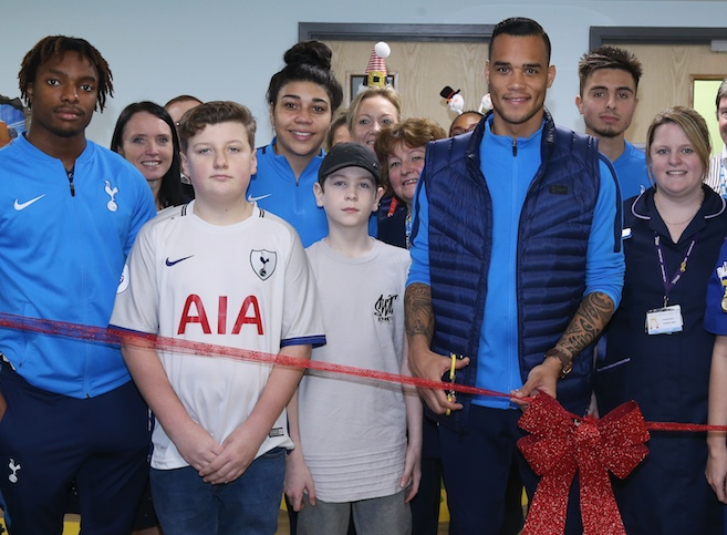 Spurs stars open new Paediatric Emergency Department at PAH