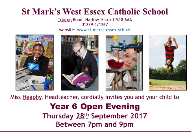 Come to St Mark's Open Evening