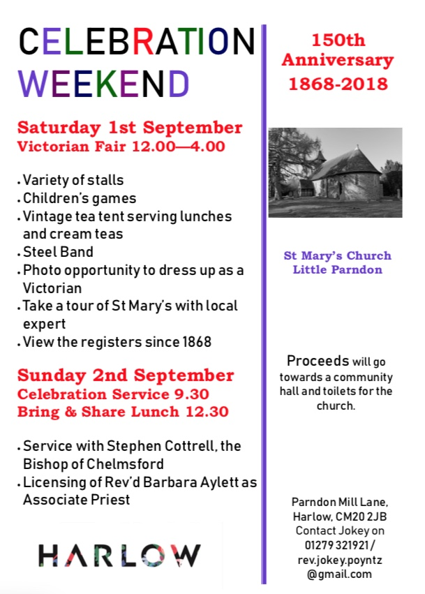 St Mary's Church in Little Parndon to celebrate 150th anniversary