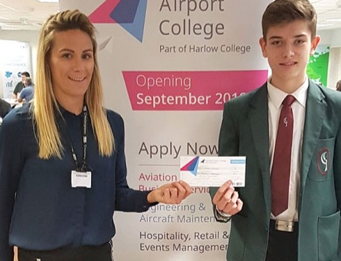 First Harlow trainees fly in to Stansted Airport College