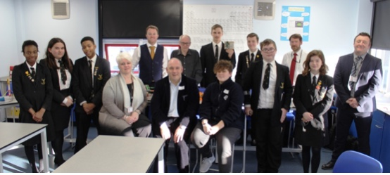 Harlow MP Robert Halfon visits Stewards Academy