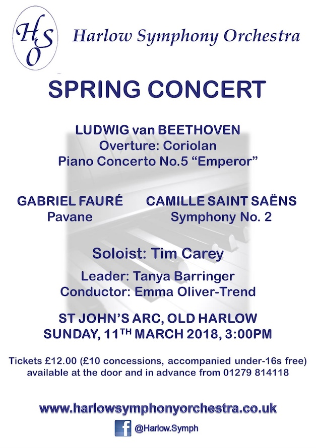 Harlow Symphony Orchestra set for Spring Concert