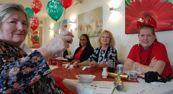 St Clare Hospice host Christmas party for Day Therapy users