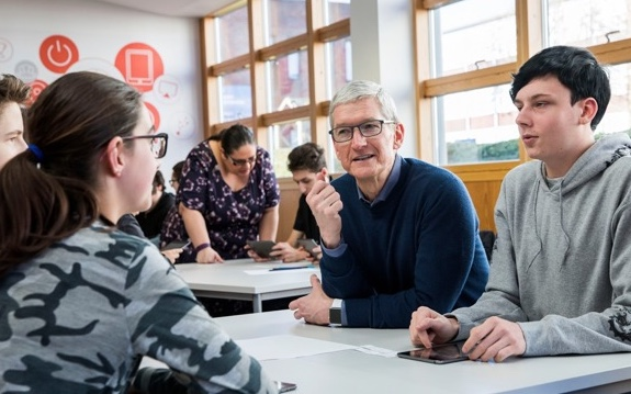 Harlow College students delighted to meet CEO of Apple