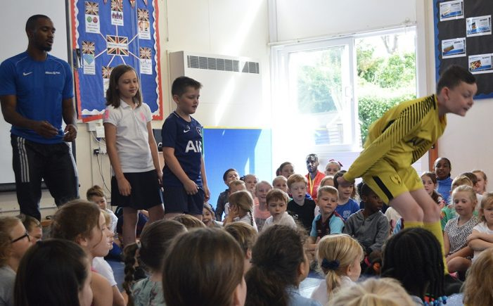 International triple jumper inspires primary pupils