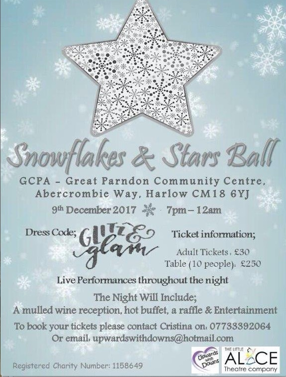 Upwards with Downs to host Snowflakes and Star Ball for Christmas