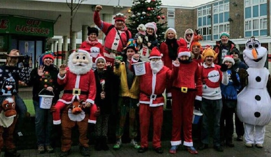 Festive Harlow walkers raise hundreds for St Clare Hospice
