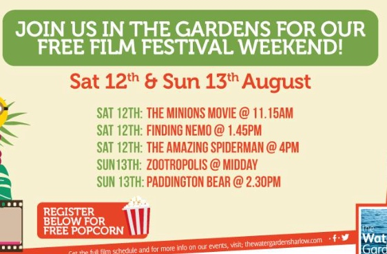 Free Film Festival at the Water Gardens