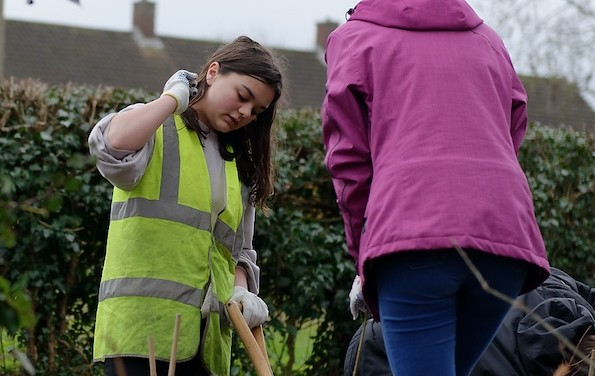 Harlow Youth councillors plant over 450 trees