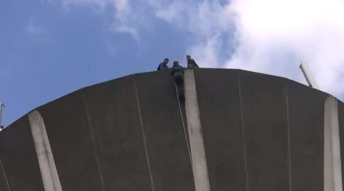 Harvey Centre sponsor Rotary Abseil at Church Langley Water Tower