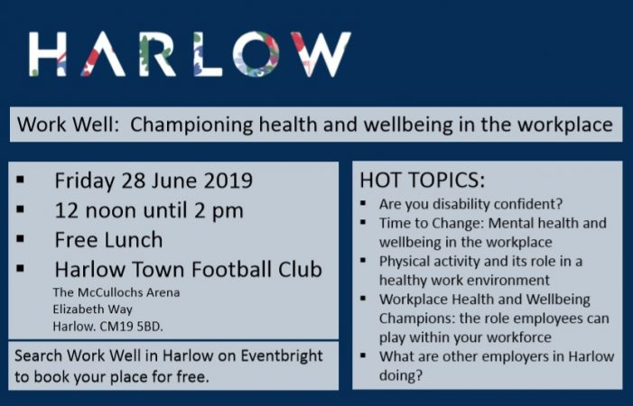 Free Health and Wellbeing event for Harlow businesses