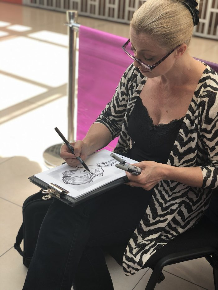 Free caricature event at the Harvey Centre a huge success!