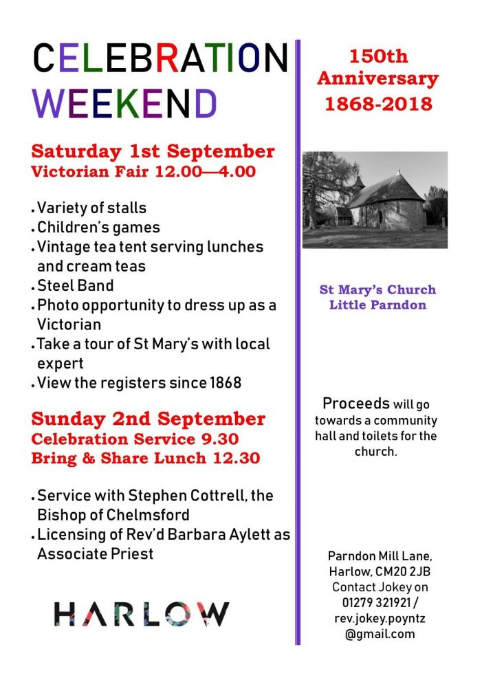 St Mary's Church Little Parndon to celebrate 150th anniversary