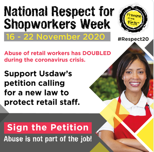 Shopworkers speak out about violence, as Usdaw launches Respect for Shopworkers Week