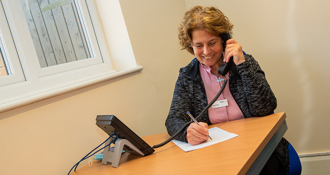St Clare Hospice secures Barclays funding to continue Bereavement Support Helpline for the next year