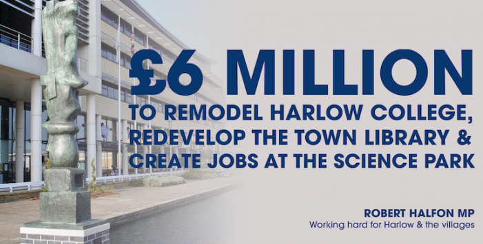 Major government investment into Harlow confirmed, creating 1,600 new jobs to reboot Harlow economy