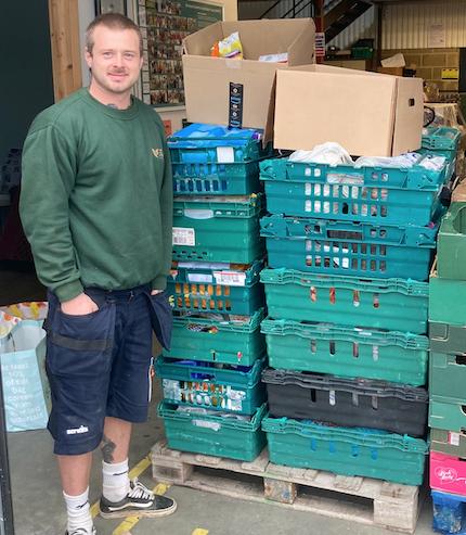 Community-minded Harlow landscape gardener makes fantastic donation to foodbank