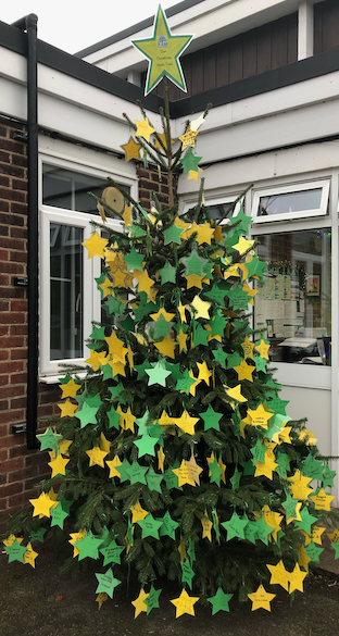Christmas wishes at Pear Tree Mead Academy