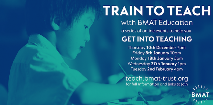 BMAT launch Train to Teach events