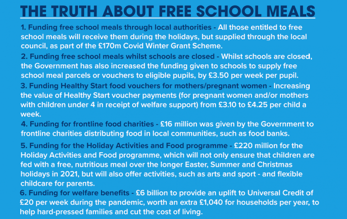 Harlow MP Robert Halfon sets record straight on government role on Free School Meals