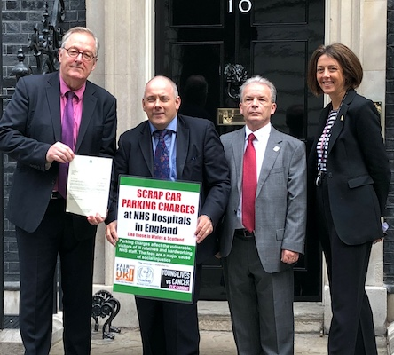 Robert Halfon MP takes hospital car parking charges protest to Theresa May's doorstep