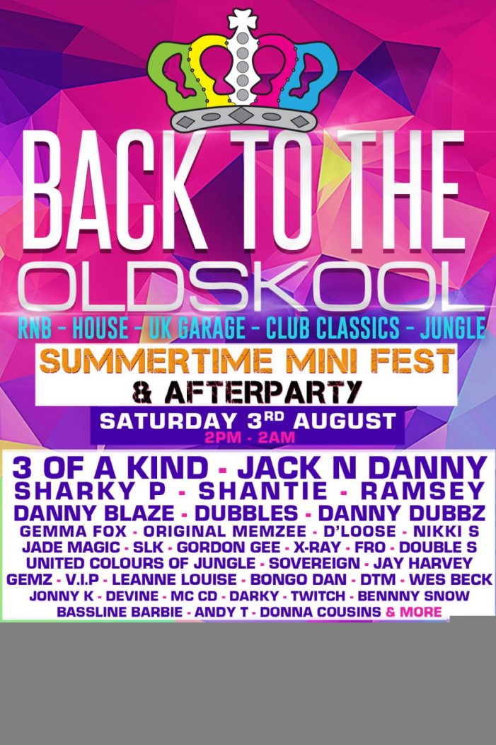 "Latton Park to host ""Back to the Old Skool All-Dayer"""