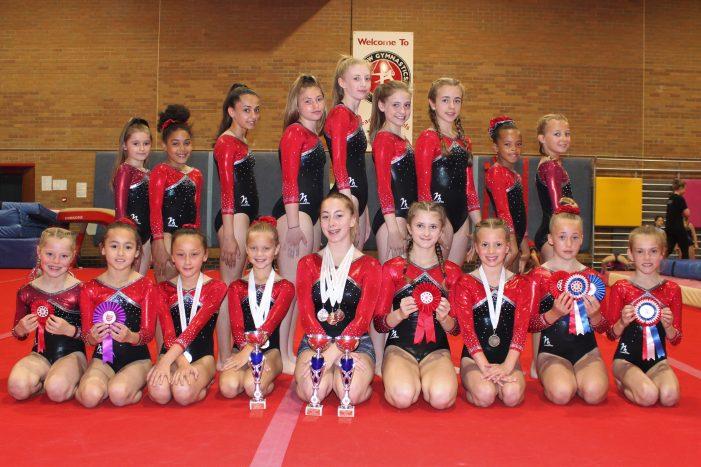 Harlow gymnasts reach East Region finals.