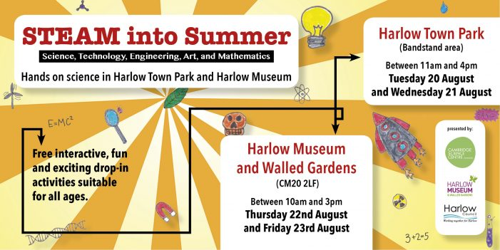 STEAM into summer – free family learning sessions on offer in town park and museum