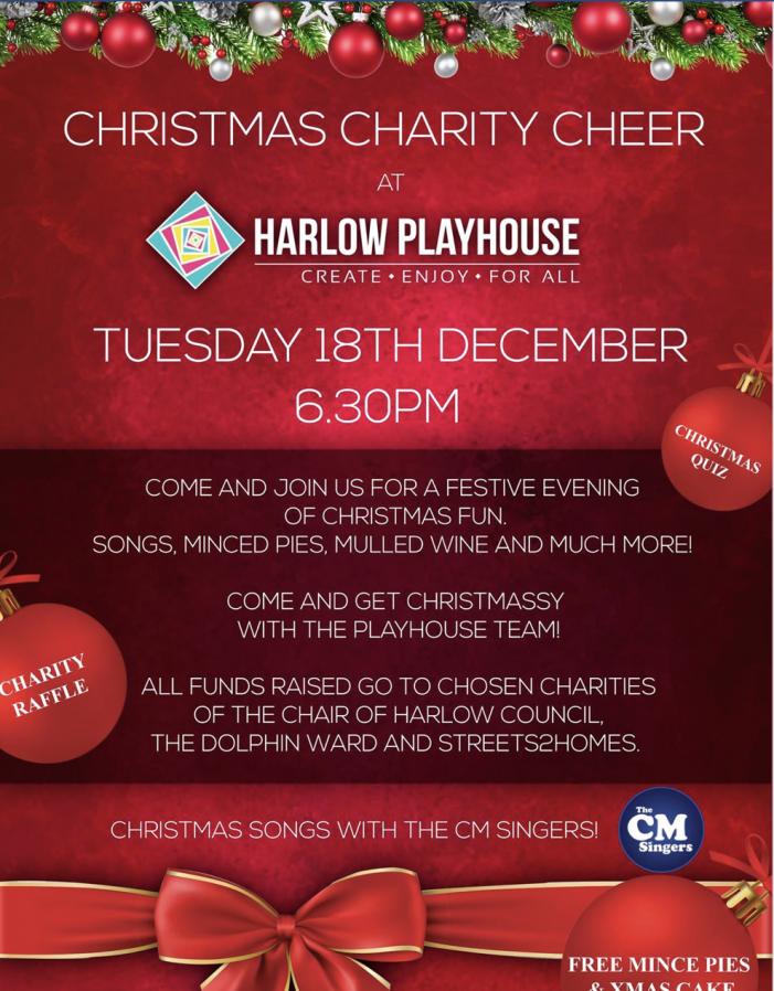 Harlow Playhouse to host Christmas Charity Cheer