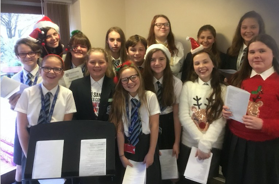 Passmores Academy singers entertain care home residents