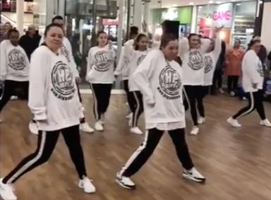 Hip Hop Pop entertain shoppers in the Harvey Centre
