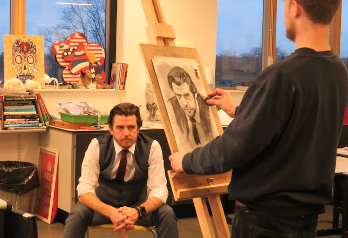 Passmores Academy students taught portrait painting skills