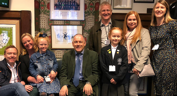 Winners of short story competition meet Robert Halfon in House of Commons