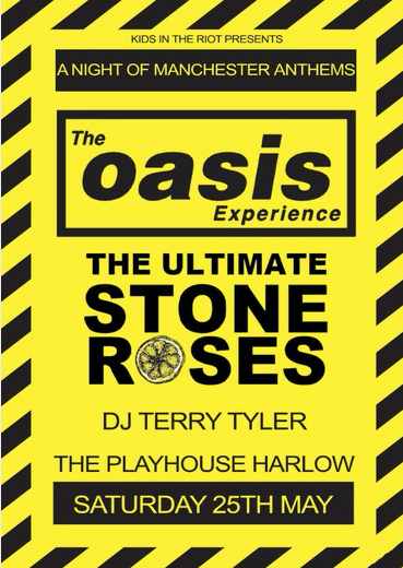 Harlow Playhouse: Oasis and Stone Roses tribute set to roll with it