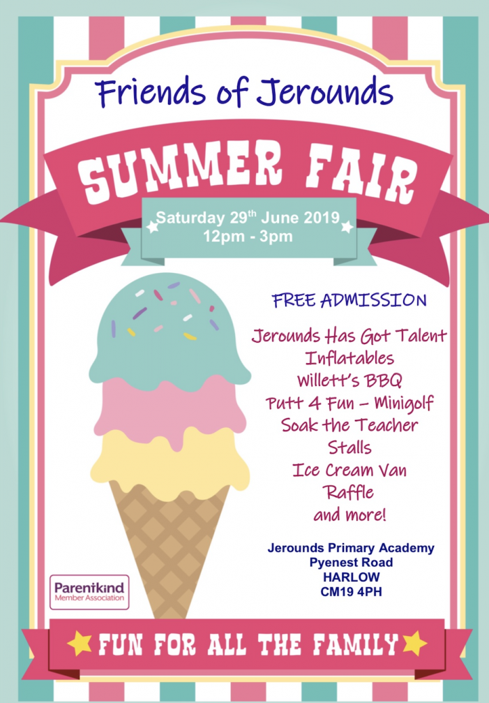 Jerounds set to host Summer Fete