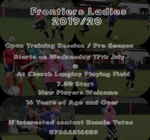 Football: Frontier Ladies Open Training Session Invitation