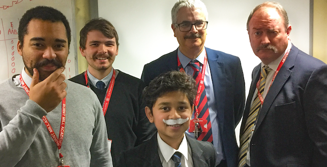 Burnt Mill Academy were one of top Movember fundraisers
