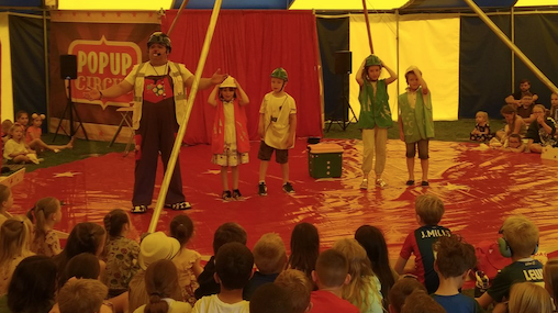 Circus comes to Roydon Primary school