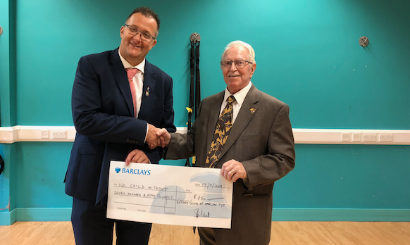 Harlow Tye Rotary give cash boost to Passmores-based charity
