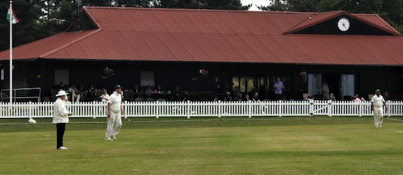Harlow Cricket Club  proud of their new picket fence
