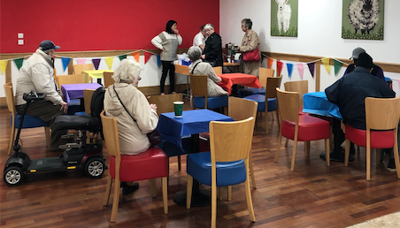 The Harvey Centre's free coffee mornings are a huge success