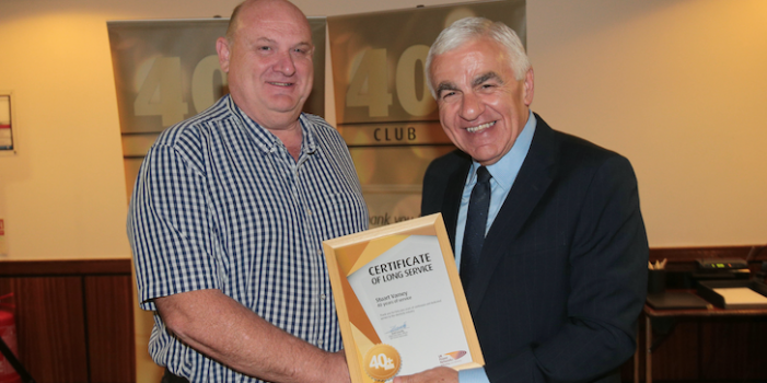 Harlow electricity worker demonstrates staying power with 40 years' service