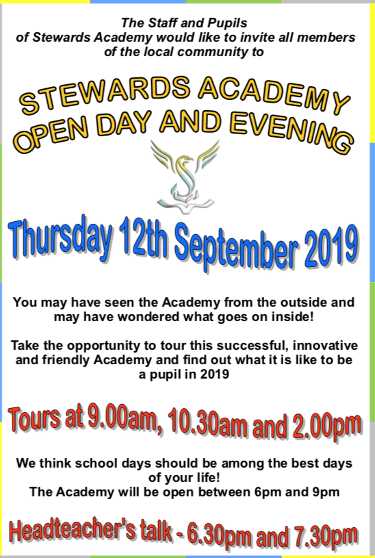 Stewards Academy Open Day and Evening