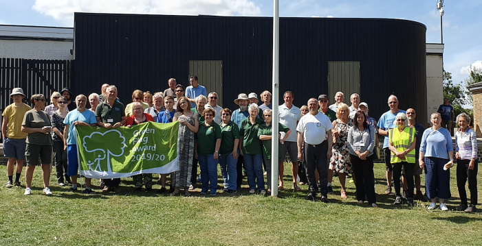 Volunteers' Green Flag Award success celebrated