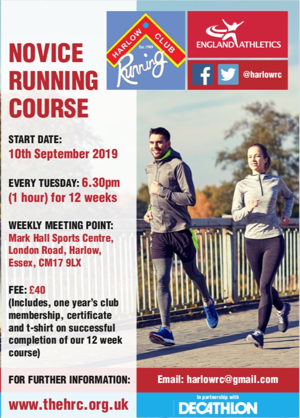 Harlow Running Club offer Novice Running Course